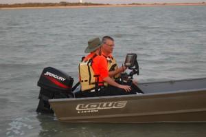 SDN Team members training on the sonar at Lake Bryan
