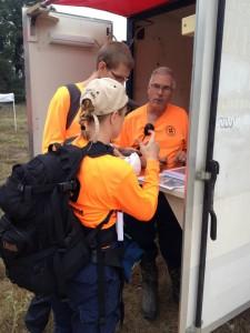 Jim briefs a team before deployment