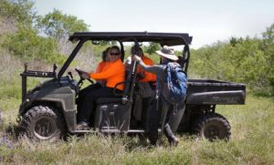 Leiha drives search teams in the gator